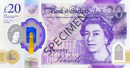 £20 Polymer Front Specimen